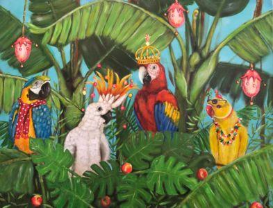 In het tropische bos (70cm x 90cm)