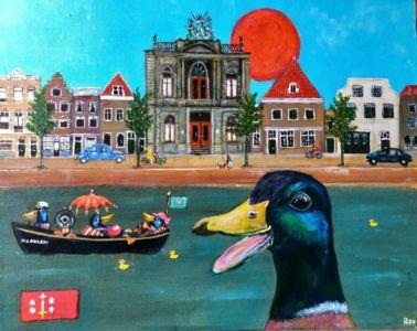 Duck Aan Het Spaarne (40cm x 50 cm) VERKOCHT