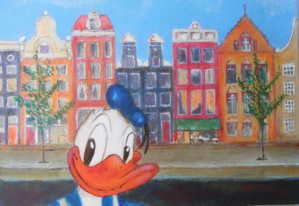 Duck In Amsterdam (30cm x 50cm) VERKOCHT
